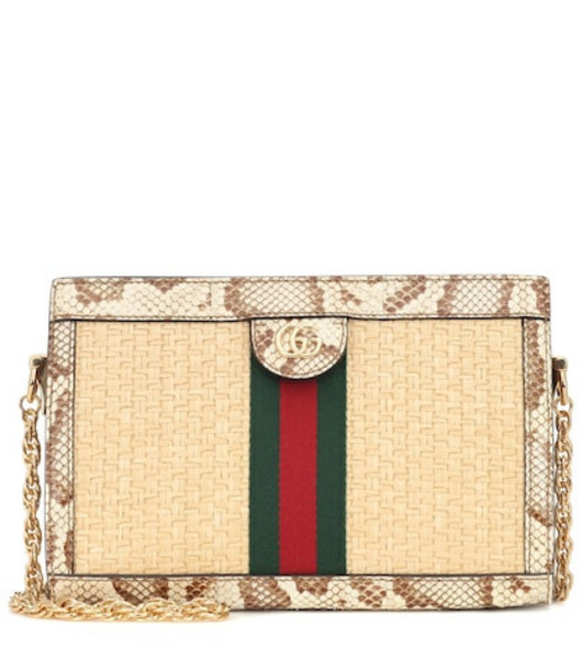 Gucci Ophidia Small shoulder bag in beige