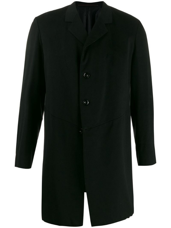 A.N.G.E.L.O. Vintage Cult 1910's notched straight coat in black