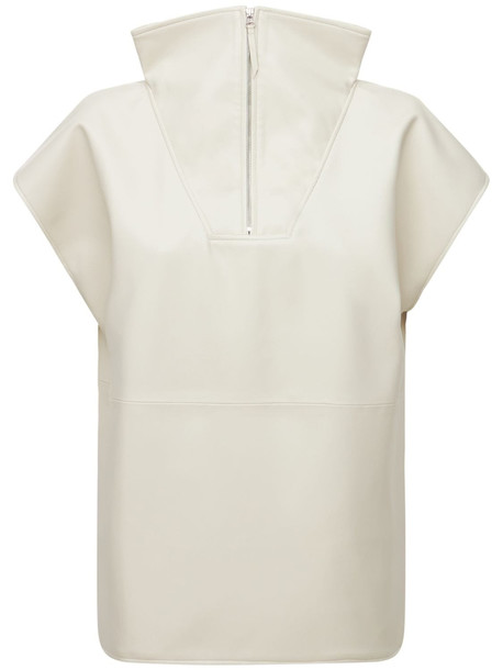 THE FRANKIE SHOP Noa Faux Leather Anorak in white