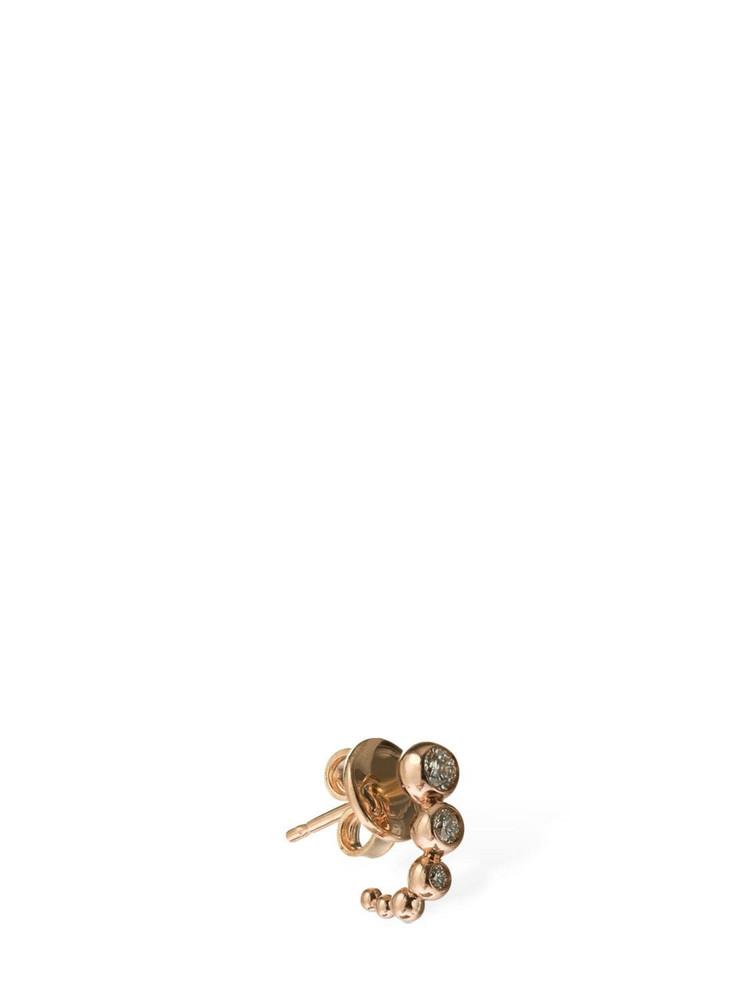 DODO 9kt & Diamond Bollicine Mono Earring in gold