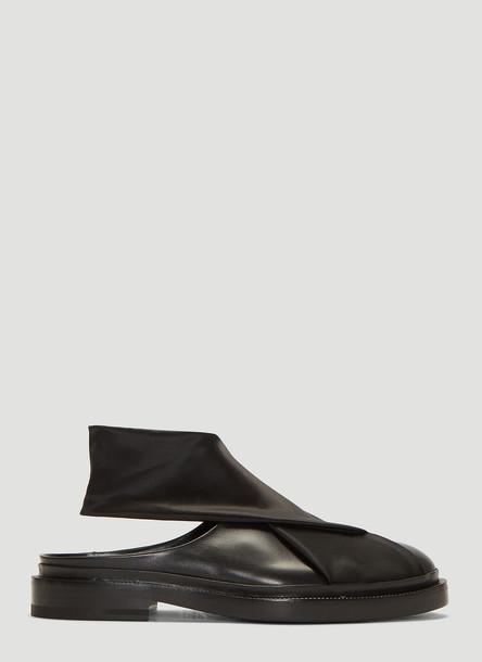 Jil Sander Stretch Satin Mules in Black size EU - 39.5