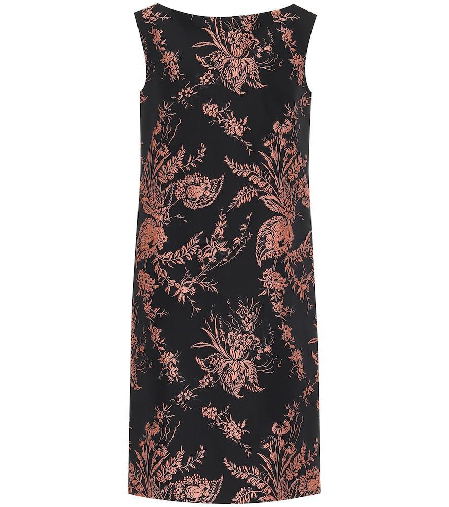 Dries Van Noten Embroidered midi dress in black