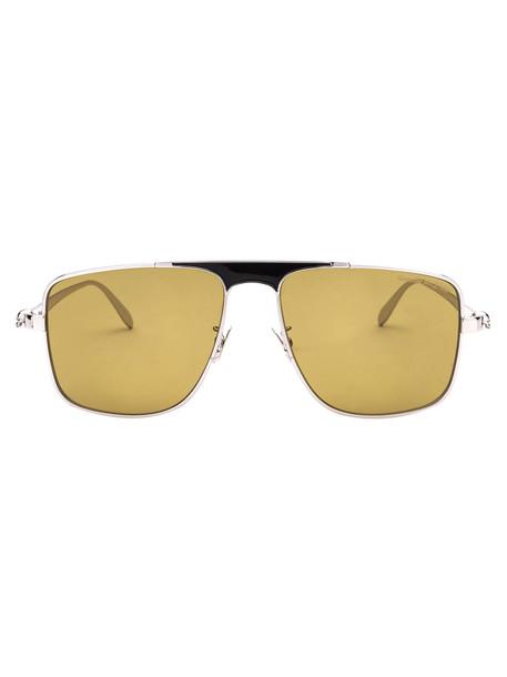 Alexander McQueen Sunglasses in silver / yellow