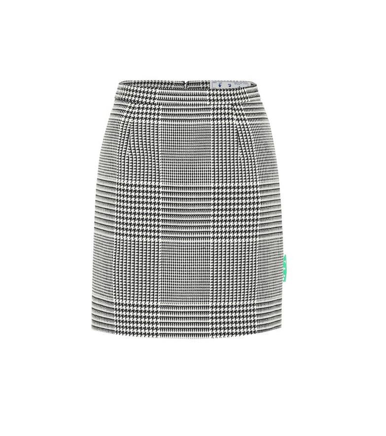Off-White Houndstooth high-rise miniskirt in black