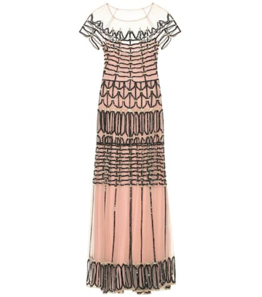 Temperley London Clio embellished tulle dress in pink