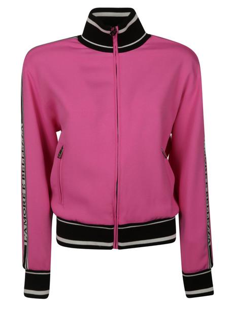 Dolce & Gabbana Striped Trim Jacket in fuchsia