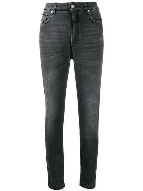 Dolce & Gabbana distressed skinny jeans in grey