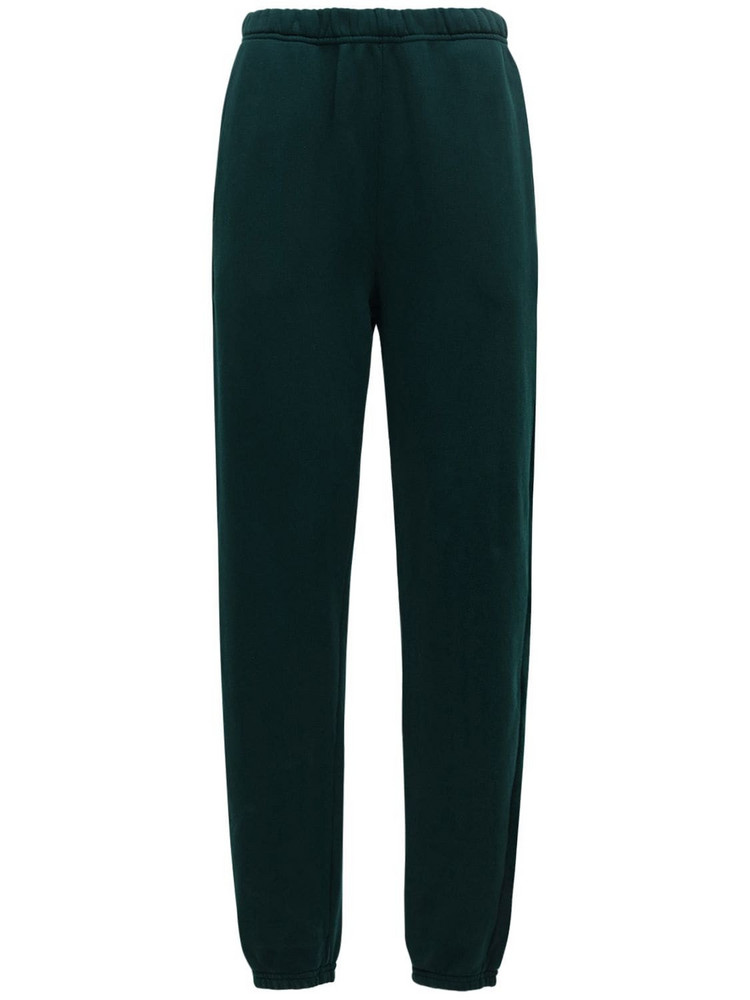 LES TIEN Classic Cotton Sweatpants in green