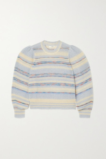 Isabel Marant Étoile - Eleonore Striped Mohair-blend Sweater - Blue