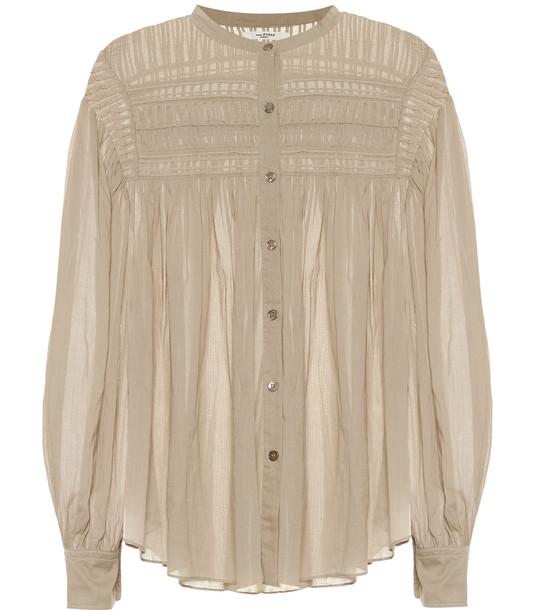 Isabel Marant, Étoile Plalia cotton voile blouse in beige
