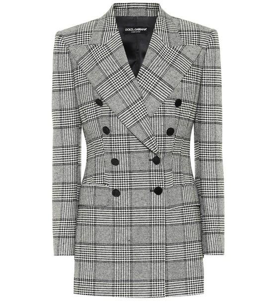 Dolce & Gabbana Houndstooth blazer in grey