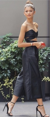 jumpsuit,black,zendaya