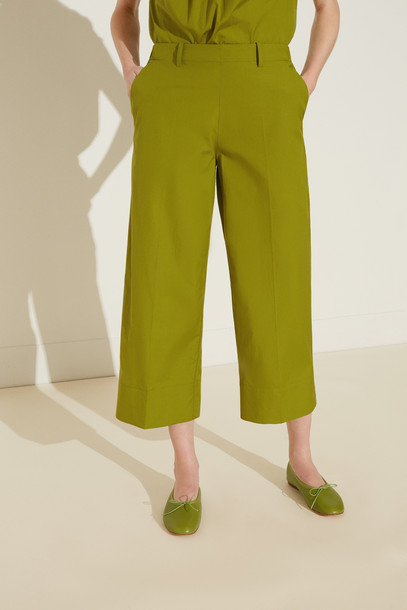Mansur Gavriel Pull On Cotton Pant - Grass