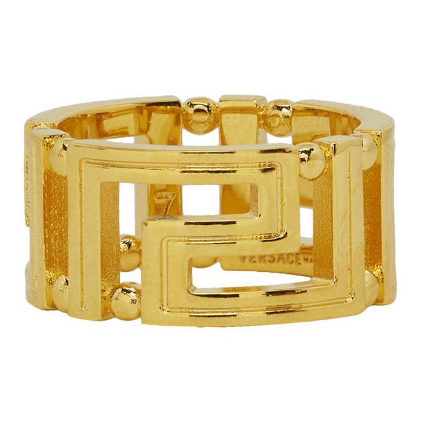 Versace Gold Empire Chain Ring