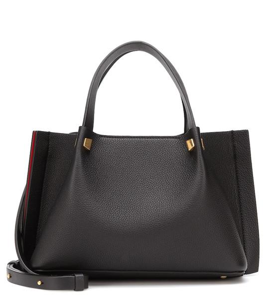 Valentino Garavani VLOGO Escape Small leather shopper in black