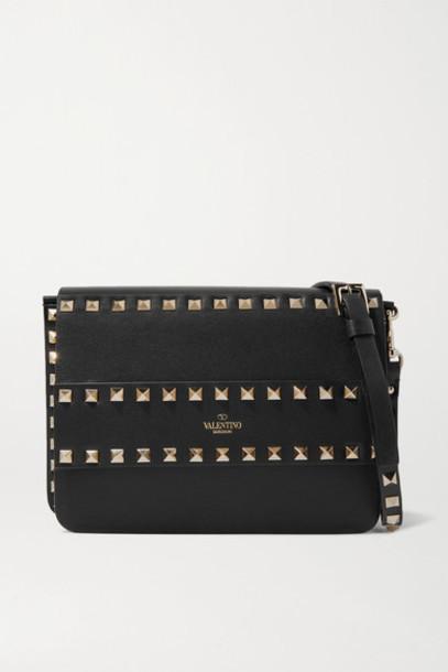Valentino - Valentino Garavani Rockstud Leather Shoulder Bag - Black