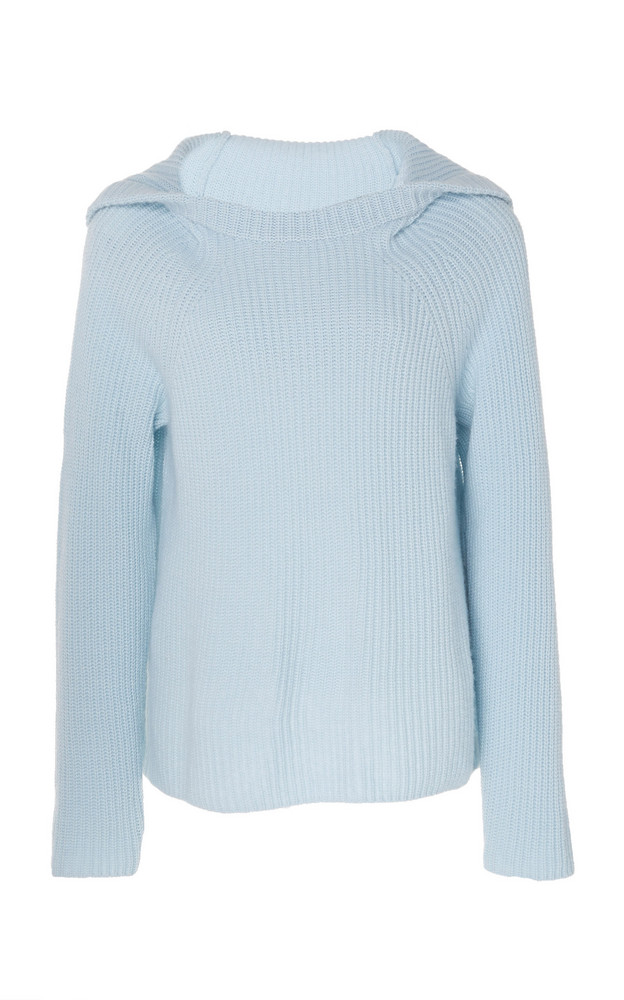 Vince Ribbed Sweater in blue