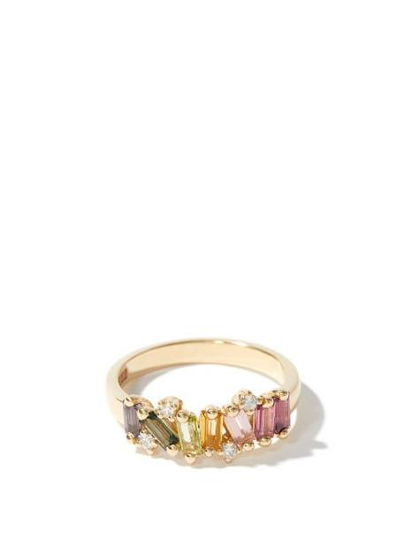 Suzanne Kalan - Amalfi Wave Band Diamond & 14kt Gold Ring - Womens - Multi