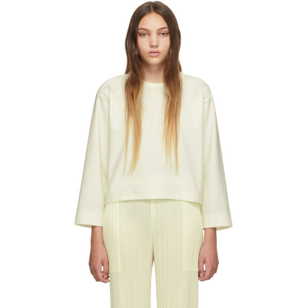 Pleats Please Issey Miyake SSENSE Exclusive White Jersey Long Sleeve T-Shirt