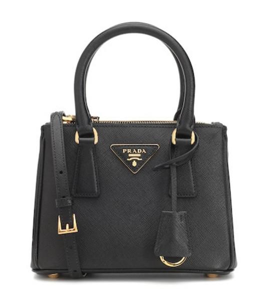 Prada Galleria Mini saffiano leather tote in black