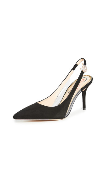 Charlotte Olympia Slingback Pumps in black