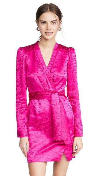 Saloni Bibi Dress in magenta