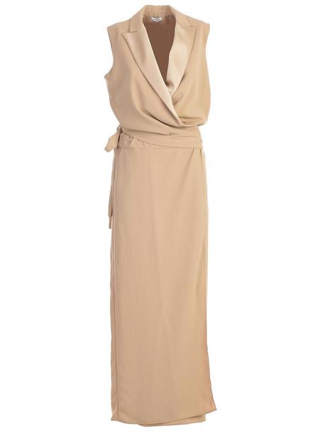 Parosh Dress W/s Long Reverse in beige / beige