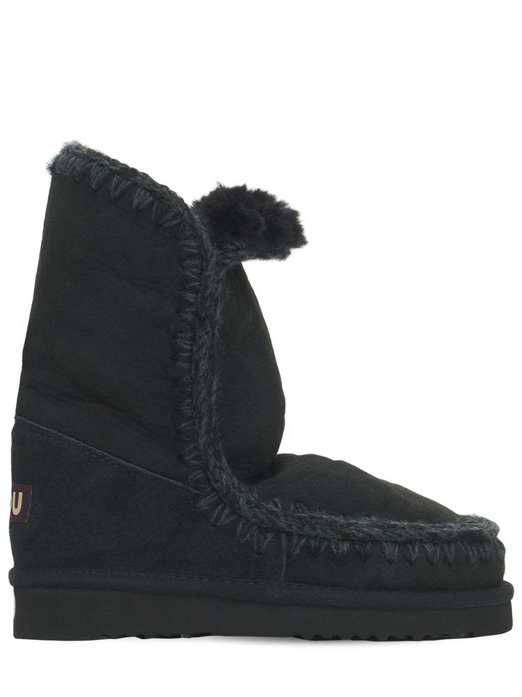 MOU 20mm Eskimo 24 Shearling Boots in black