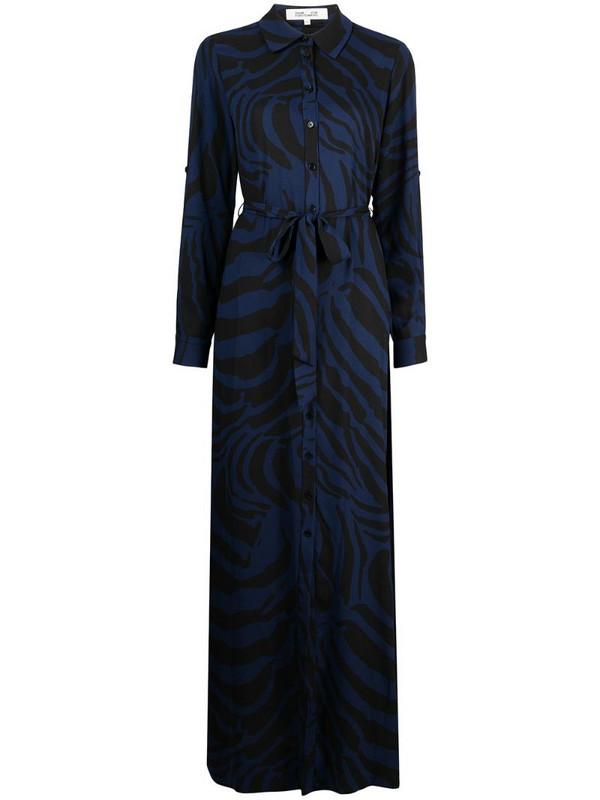 DVF Diane von Furstenberg Deborah zebra midi dress in black