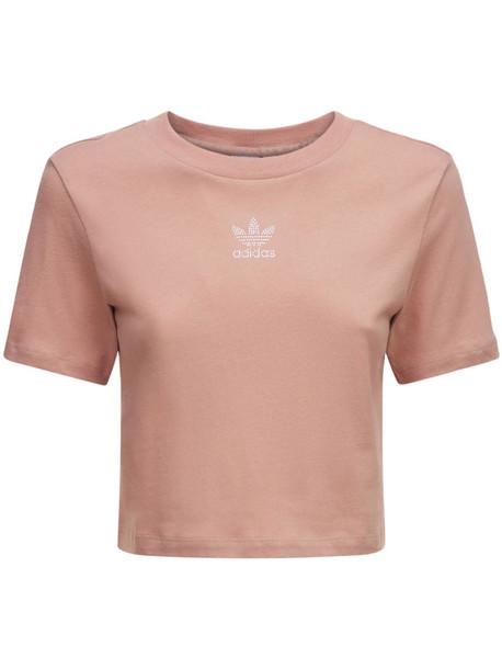 ADIDAS ORIGINALS Cropped T-shirt in beige