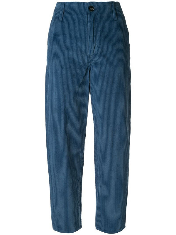 Nobody Denim Esoteric straight corduroy trousers in blue