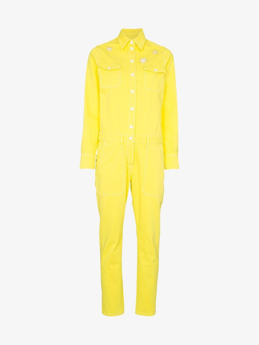 Mira Mikati it's magic cotton jumpsuit in yellow