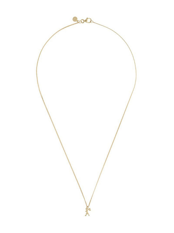 Karen Walker mini Runaway Girl pendant necklace in gold