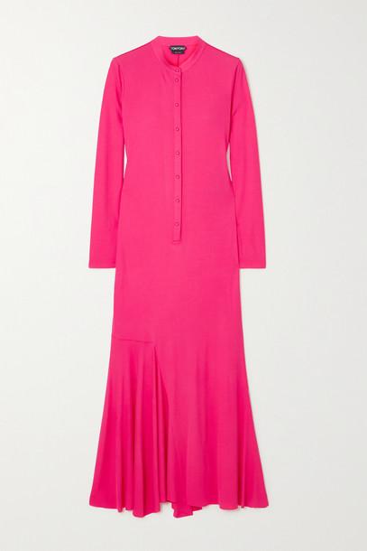 TOM FORD - Asymmetric Jersey Maxi Dress - Pink