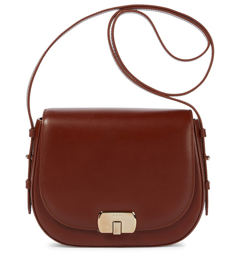 A.P.C. Eva Small leather shoulder bag in brown