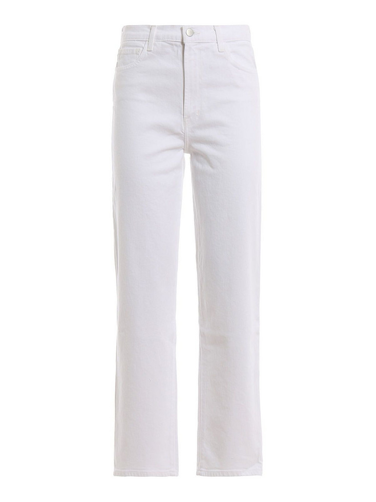 J Brand Jules Straight Jeans in white