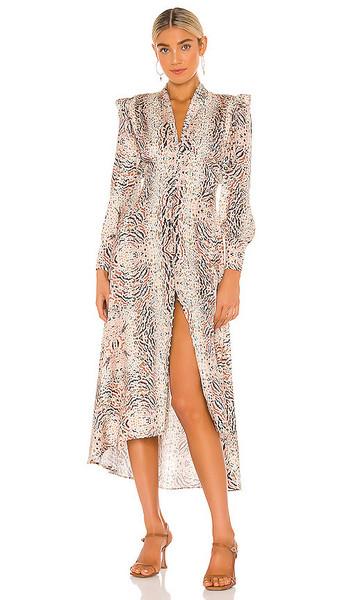 ALLSAINTS Lia Arietta Dress in Tan in ecru / white