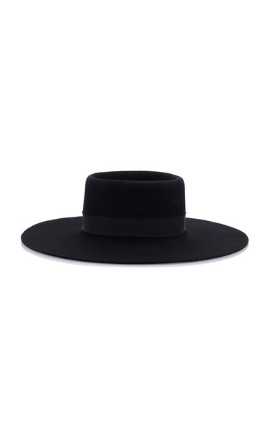 Acheval Pampa Felt Hat in black