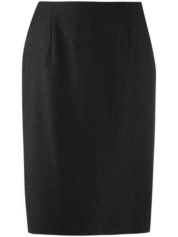 Gianfranco Ferré Pre-Owned 1990s high rise pencil skirt in grey