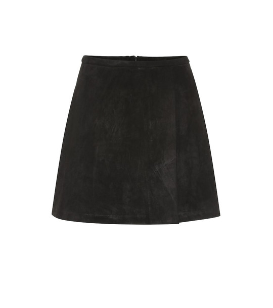 Stouls Santa suede miniskirt in black