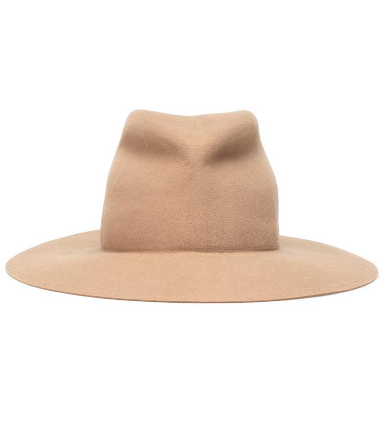 Lola Hats Snap Saddled Up felt hat in beige