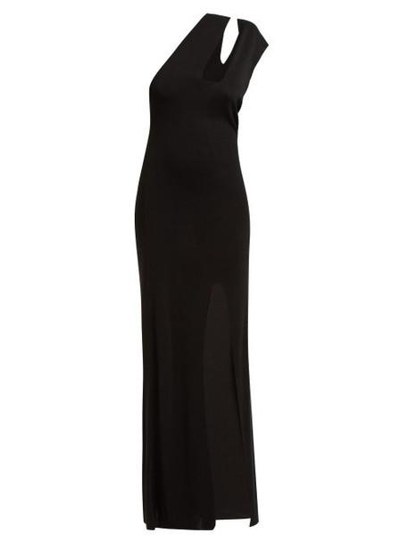 Jacquemus - La Robe Azur Knitted Midi Dress - Womens - Black