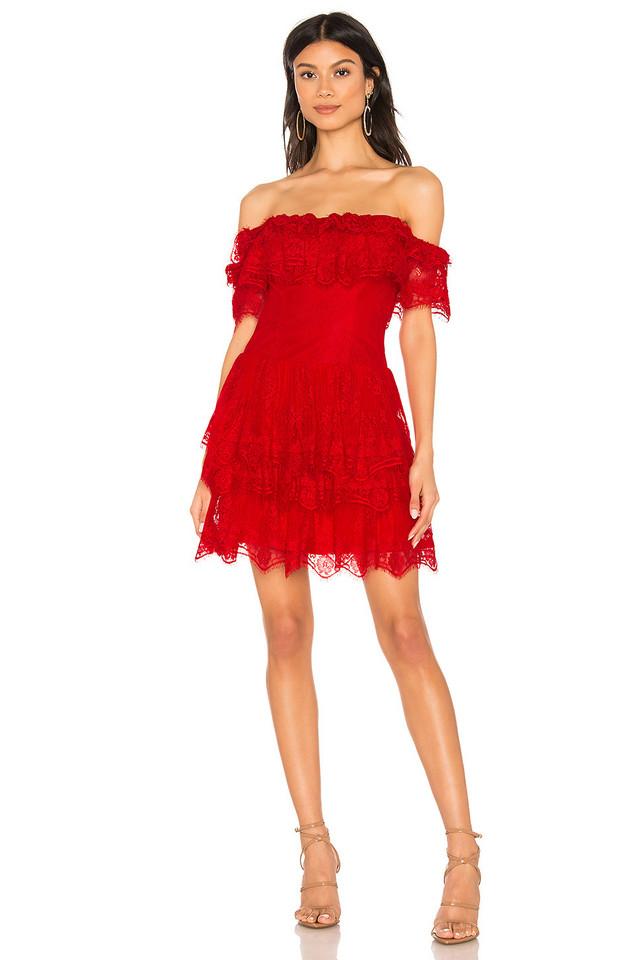 X by NBD Simi Mini Dress in red