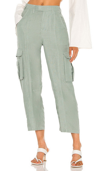 L'Academie The Mili Pant in Sage in green