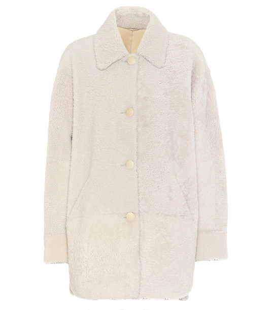 Isabel Marant Sarvey shearling jacket in white