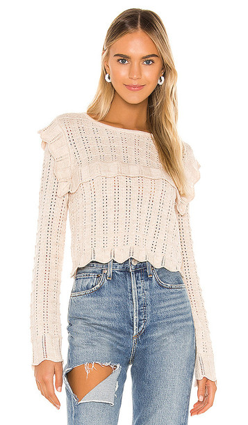 MAJORELLE Vidalia Sweater in Beige