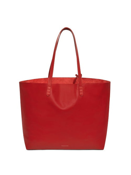 Mansur Gavriel - Leather Tote Bag - Womens - Red