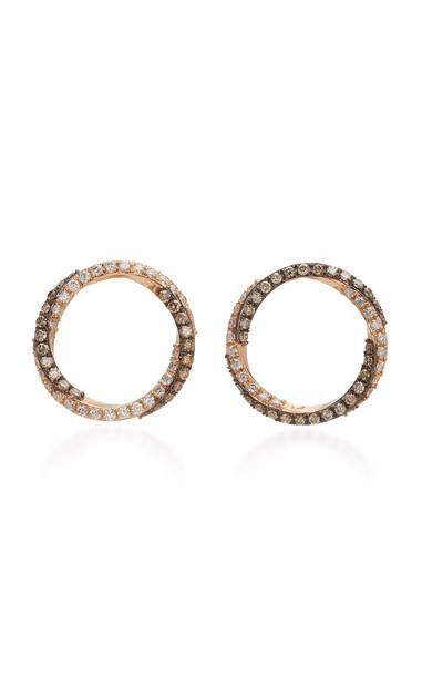 TULLIA 14K Rose Gold Diamond Earrings