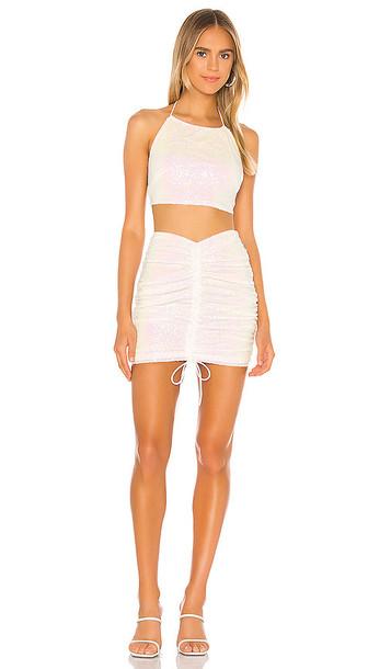 superdown Desiree Ruched Skirt Set in White