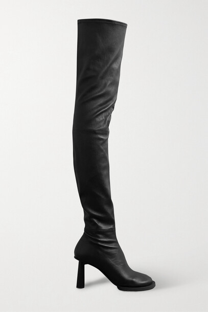 Jacquemus - Carré Ronds Leather Over-the-knee Boots - Black